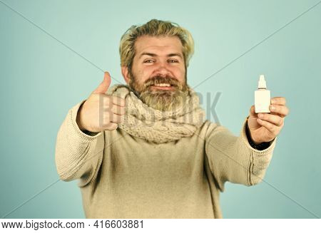 Runny Nose Recovery. Health Care Concept. Fast Recovery. Cold Flu Remedies. Runny Nose And Symptoms