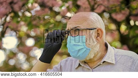 Protect And From Virus Infection. Limit Risk Infection Spreading. Infection Is In Air. Seniors Vulne