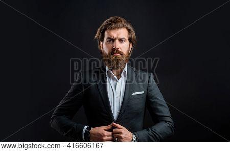 Representation Modern Successful Man Business Career, Corporate Style Concept
