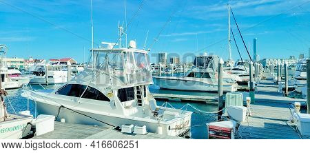 Atlantic  City, Usa - March 26, 2021: Kammerman\'s Marina, Golden Nugget. Image