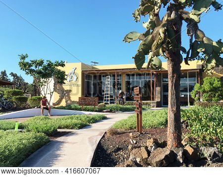 GALAPAGOS, ECUADOR, FEBRUARY 20, 2017: The Charles Darwin Research Station. The station was founded in 1959, under the auspices of UNESCO and the World Conservation Union.