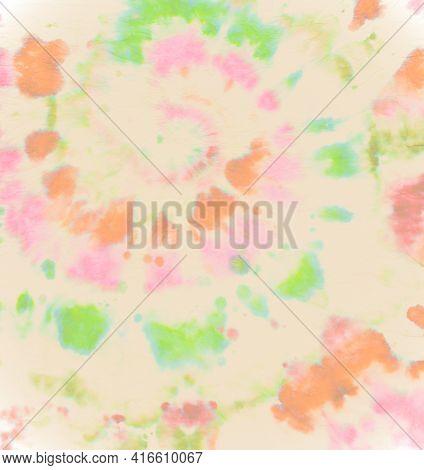Pastel Spiral Tie-dye. Abstract Swirl Texture. Batik Print. Circular Water Style. Color Pattern. Art