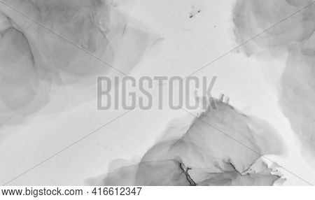 Gray Marble Texture. Abstract Architecture. Watercolor Granite Pattern. Light Floor Design. Grey Mar