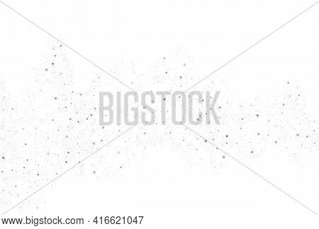 Silver Glitter Background. Light Silver Glitter Confetti Background. White Holiday Texture. Elegant