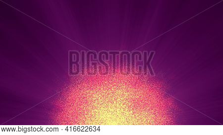 Abstract Particles Sun Solar Flare Particles Illustration 3d Render