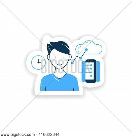 Information Age Sticker. Opportunities For Individuals To Process Information Freely And Have Instan