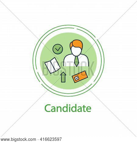 Election Candidate Concept Icon. Politician. Elected Applicant. Choice, Vote Concept. Democracy. Par