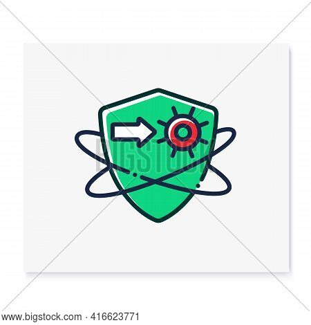 Virus Fight Color Icon. Antiviral Treatment. Immunity Strengthening Concept. Immunology. Body Defenc