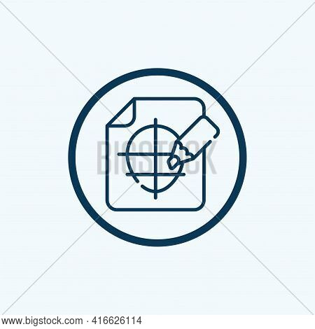 Sketching Icon Isolated On White Background From Creative Process Collection. Sketching Icon Trendy