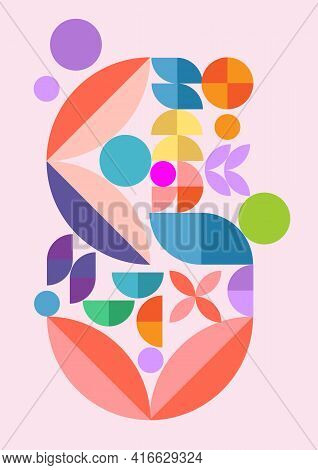 Creative Geometric Poster, Cover Design, Geometric Energetic Shapes, Modern Drawing Design. Elegant