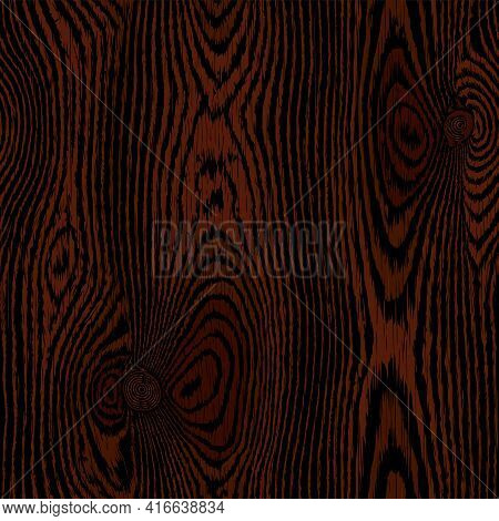 Dark Brown Wooden Background, Wood Texture. Highly Detailed Table Or Floor Surface, Natural Material