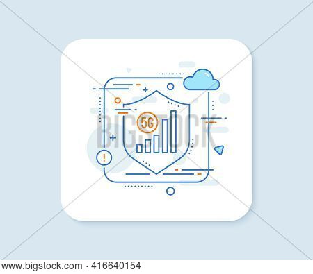 5g Wifi Signal Quality Line Icon. Abstract Vector Button. Wireless Technology Sign. Mobile Internet