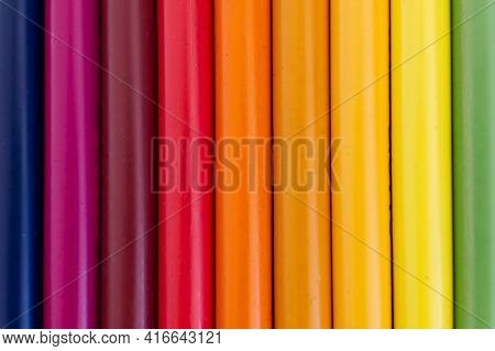 Rainbow Shade Pastel Color Pattern. High Quality Photo