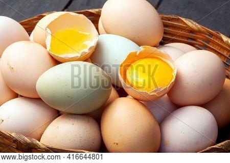 Hillbilly egg yolk from organic farm