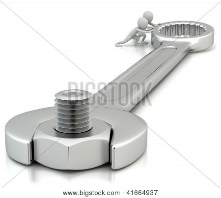 3D People Twist The Key.