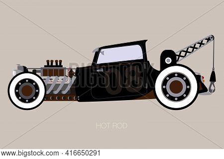 Crane Hot Rod, Side View Of Car, Automobile, Motor Vehicle