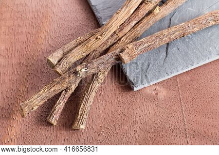 Glycyrrhiza Glabra - Licorice, An Effective Medicinal Plant For Coughs And Stomach Ailments
