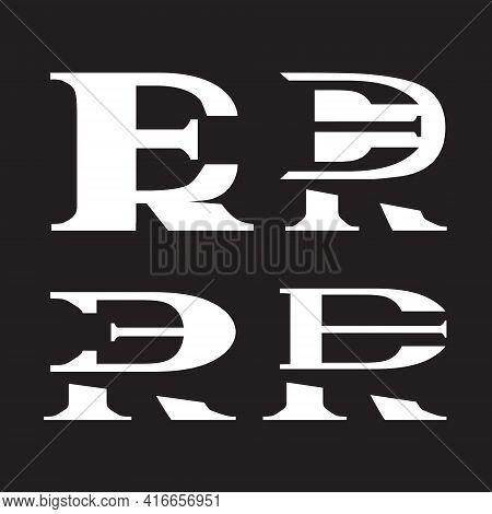Er Or Re Monogram Logo Concepts Set