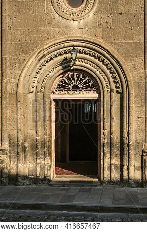 Entrance To The Church Of The