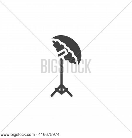 Studio Lights, Soft Box Vector Icon. Filled Flat Sign For Mobile Concept And Web Design. Photo Studi