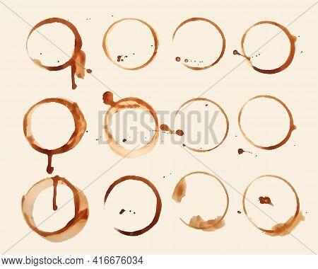 Coffee Glass Texture Stain Set Of Twelve