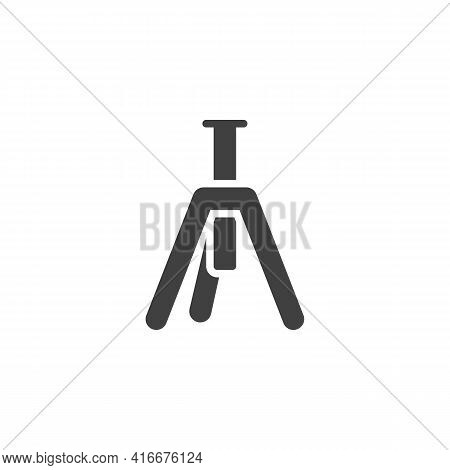 Tripod Vector Icon. Filled Flat Sign For Mobile Concept And Web Design. Camera Tripod Glyph Icon. Sy