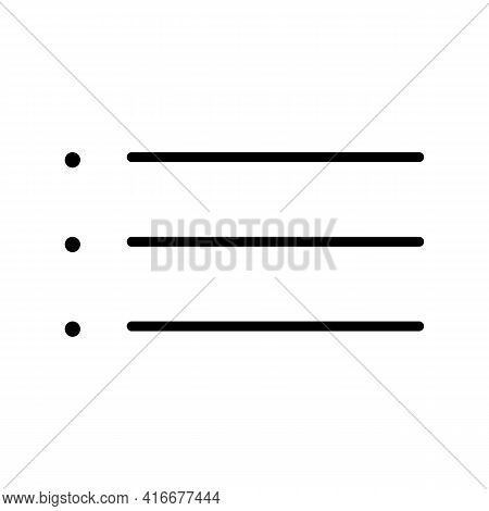 Menu or catalog thin line icon in black. Graphic elements for your site. Trendy flat style isolated symbol, can be used for: illustration, outline, logo, mobile, app, design, web ui, ux. Vector EPS 10.