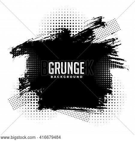 Abstract Grunge Halftone Splatter Texture Background Design