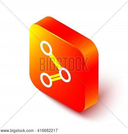 Isometric Line Share Icon Isolated On White Background. Share, Sharing, Communication Pictogram, Soc
