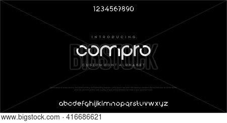 Modern Abstract Digital Alphabet Font. Minimal Technology Typography, Creative Urban Sport Fashion F