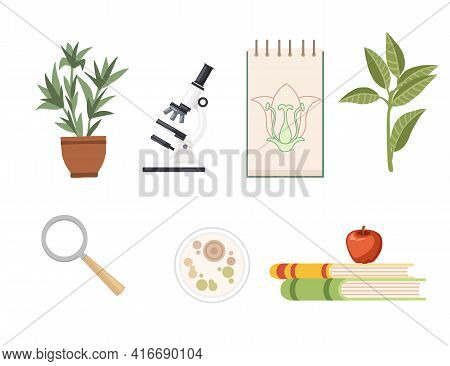 Seamless Pattern Biology Science Courses Online Education Concept Or School Lesson Vector Illustrati