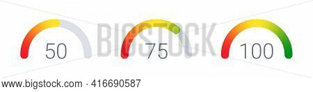 Gauges. Risk Level Gauge. Level Indicator. Performance Measurement. Gauge Concept. Vector Illustrati