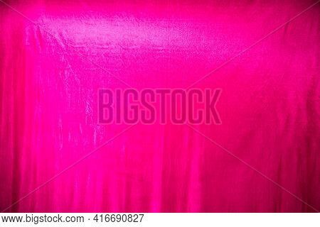 Pink Rag Background In The Room. Background In The Photo Studio For Photography And Photo Shoot. Fab