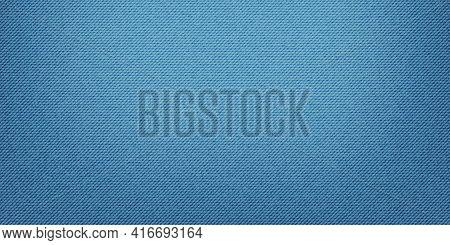 Blue Classic Jeans Denim Texture. Light Jeans Texture. Realistic Vector Illustration.