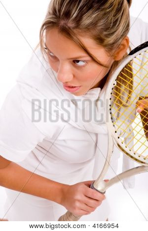 Top View Of Adult Tennis Player