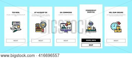 Supply Chain Management System Onboarding Mobile App Page Screen Vector. Optimization Of Supply Chai