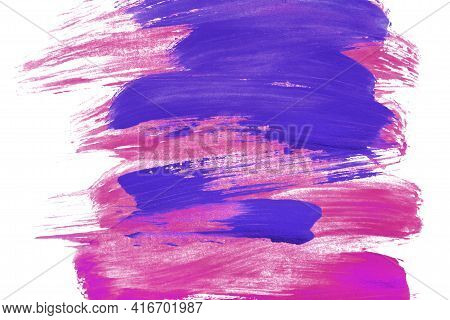 Magenta Pink And Purple Watercolor Abstract Paintings On White As A Background