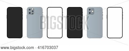 Phone. Mobile Device. Smartphone Mockup With Modern Display. Phone Icon. Cellphone Frame With Modern