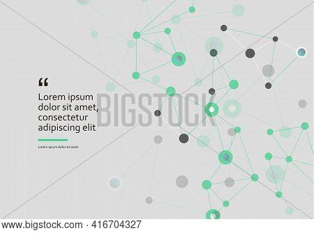 Line Human Cell. Medical Shape White Base Drafting. Vector Illustration