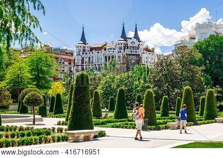 Madrid, Spain  - 14 May 2017:  Park