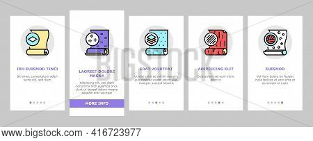 Wallpaper Interior Onboarding Mobile App Page Screen Vector. Waterproof And Paper, Vinyl And Non-wov