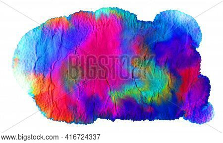 Super Cool Trendy Bright Textured Grunge Background With Smooth Color Change From Blue To Pink With