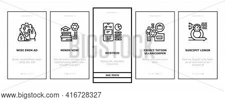 Optimize Operations Onboarding Mobile App Page Screen Vector. Optimize Internet Speed And Electronic