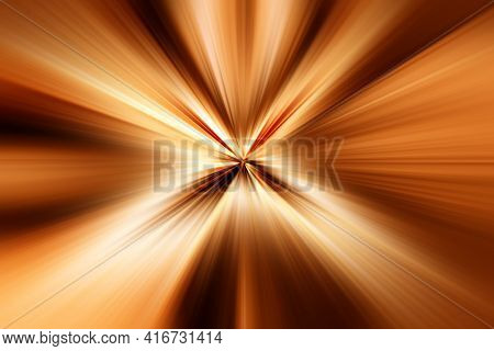 Abstract Surface Of Radial Blur Zoom Brown And Beige Tones. Abstract Brown , Beige Background With R