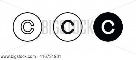 C Letter Logo, Letter C Icons Button, Vector, Sign, Symbol, Logo, Illustration, Editable Stroke, Fla
