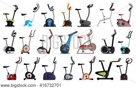Exercise Bike Vector Cartoon Set Icon. Isolated Cartoon Set Icon Fitness Bicycle.vector Illustration