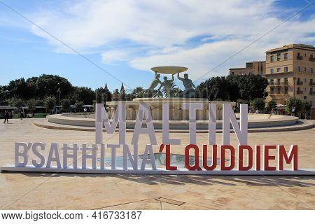Valetta, Malta - October 22, 2020: