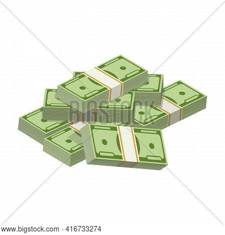 Dollar Bundle Cartoon Vector Icon.cartoon Vector Illustration Banknotes Of Money. Isolated Illustrat