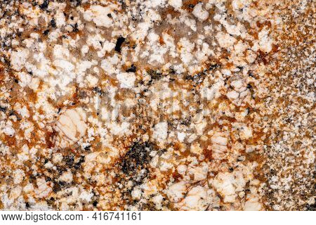 Natural Solarium Granite Background, Texture In Modern Color For Your Creative Design Work.