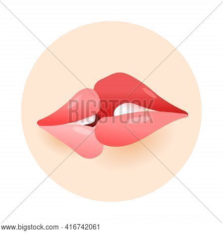 Kiss. I Love You. Romance And Love. Intimate Relationships And Sexual Relationships. Close-up Kissin